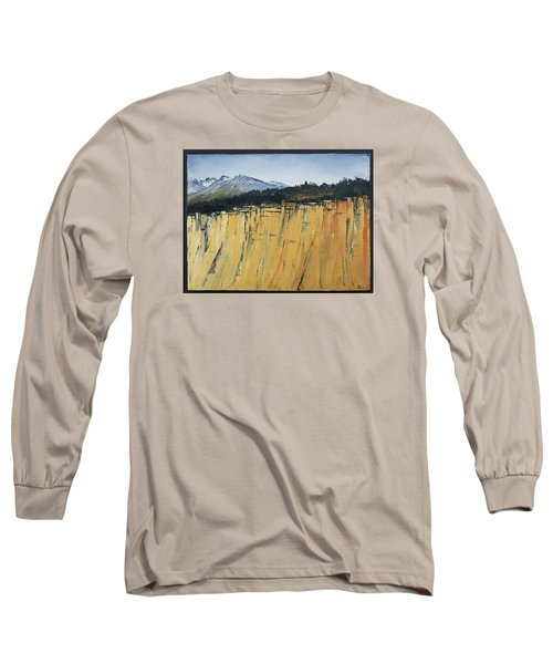 Of Bluff And Mountain Long Sleeve T-Shirt by Carolyn Doe