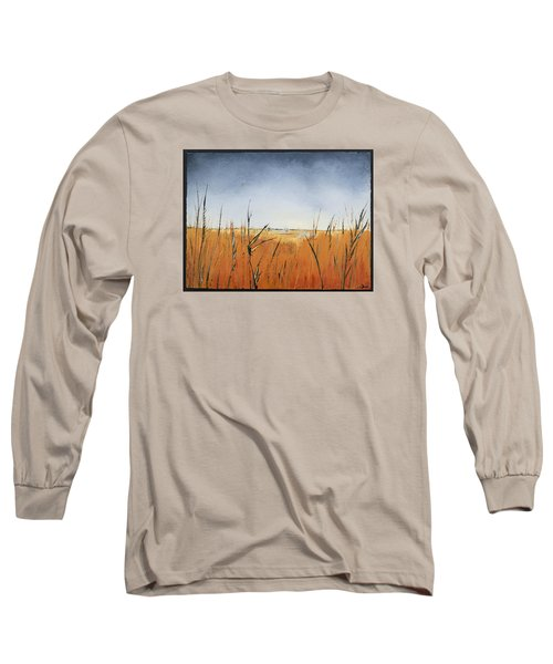 Of Grass And Seed Long Sleeve T-Shirt by Carolyn Doe