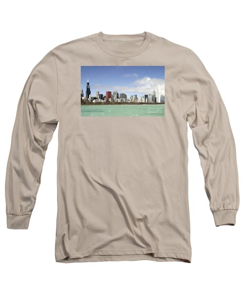Long Sleeve T-Shirt featuring the photograph Off The Shore Of Chicago by Ricky L Jones
