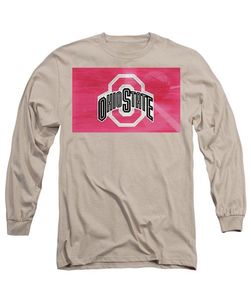 Ohio State Basketball Court Long Sleeve T-Shirt