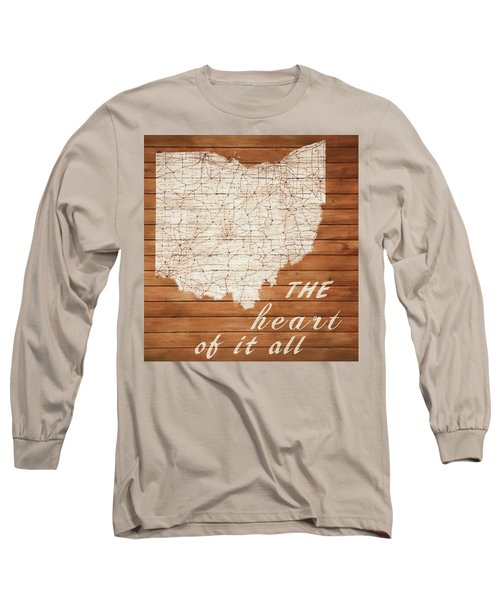 Ohio The Heart Of It All Long Sleeve T-Shirt