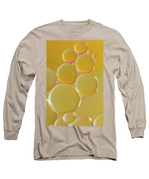 Oil Bubbles On Water Abstract Long Sleeve T-Shirt