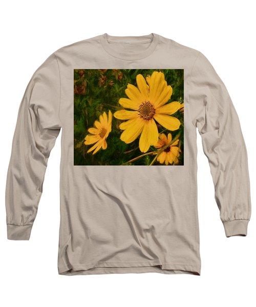 Oil Glaze Wildflowers Long Sleeve T-Shirt