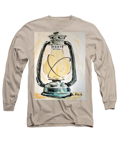 Long Sleeve T-Shirt featuring the painting Oil Lamp by Maria Langgle