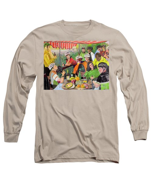 Oil- Luncheon Of The Cycling Party Long Sleeve T-Shirt
