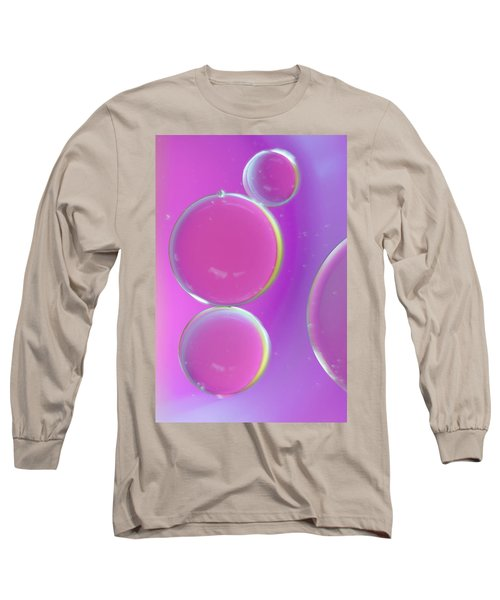 Oil On Water Abstract Long Sleeve T-Shirt