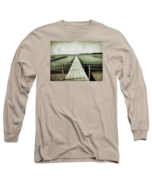Okoboji Docks Long Sleeve T-Shirt by Julie Hamilton