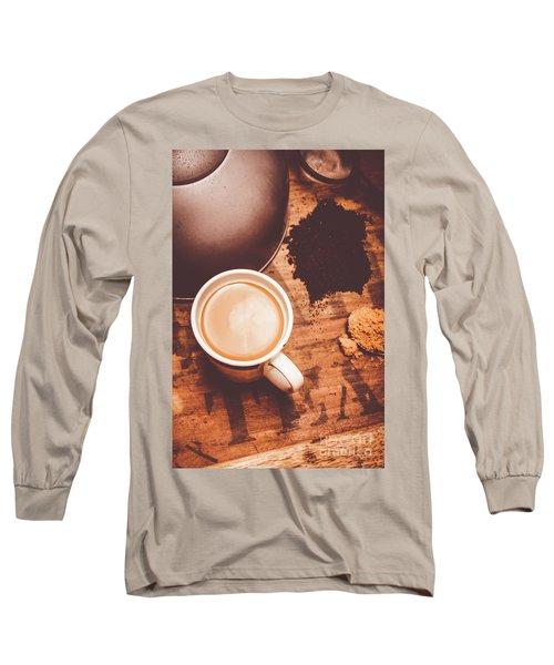 Old Artistic Vintage Tea Still Life Long Sleeve T-Shirt