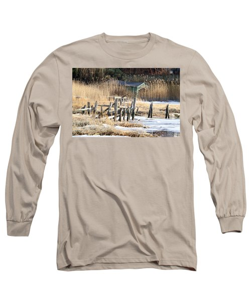Old Dock And Boathouse  Long Sleeve T-Shirt