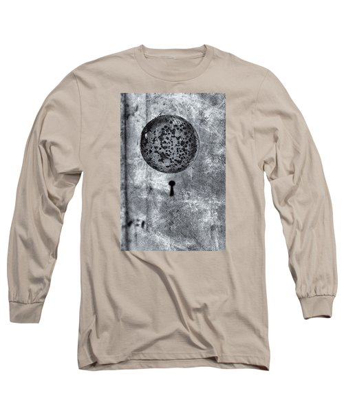Long Sleeve T-Shirt featuring the photograph Old Doorknob by Tom Singleton