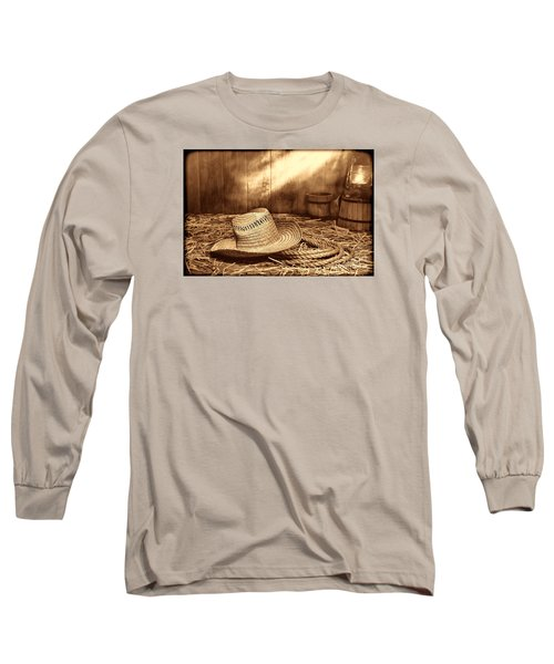 Old Farmer Hat And Rope Long Sleeve T-Shirt