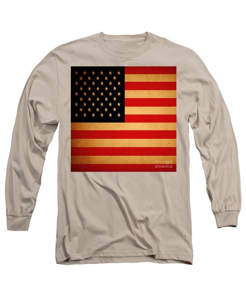 Old Glory . Square Long Sleeve T-Shirt