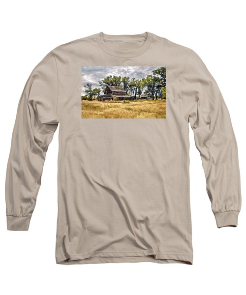 Old House And Barn Long Sleeve T-Shirt