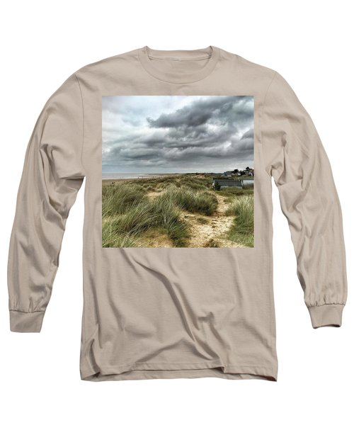 Old Hunstanton Beach, North #norfolk Long Sleeve T-Shirt by John Edwards