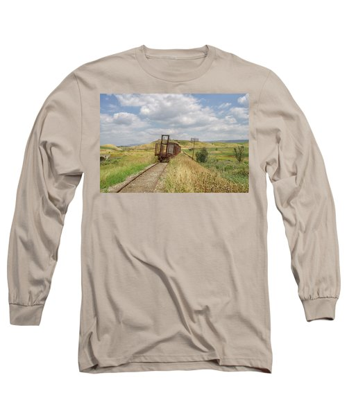 Jezre'el Valley Old Railway Station Long Sleeve T-Shirt by Uri Baruch