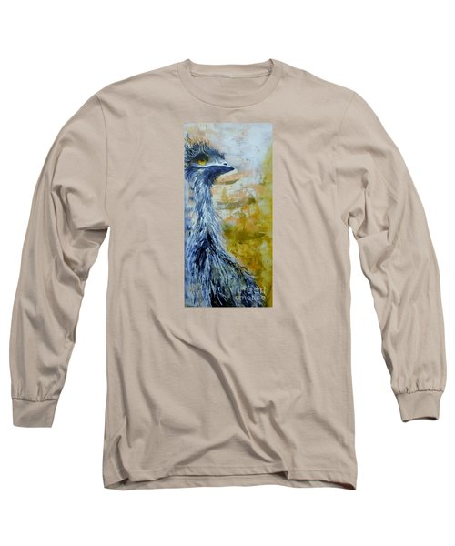 Long Sleeve T-Shirt featuring the painting Old Man Emu by Lyn Olsen