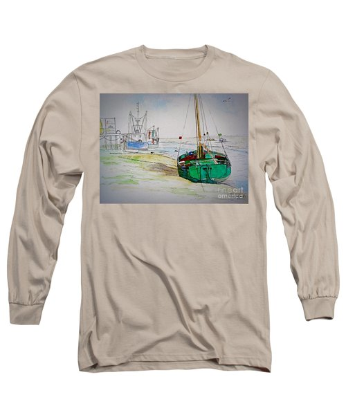 Old River Thames Fishing Boat Long Sleeve T-Shirt