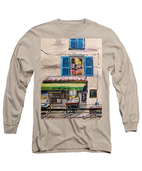 Old Town Cafe Long Sleeve T-Shirt by John Williams