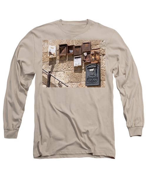 Old  Mailboxes In Jerusalem Long Sleeve T-Shirt