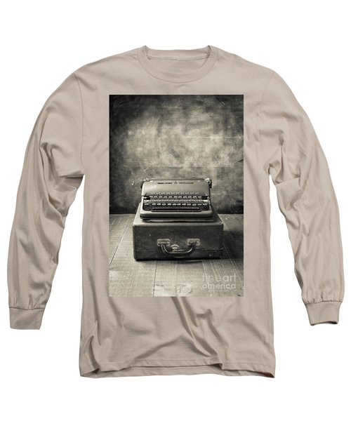 Long Sleeve T-Shirt featuring the photograph Old Vintage Typewriter  by Edward Fielding