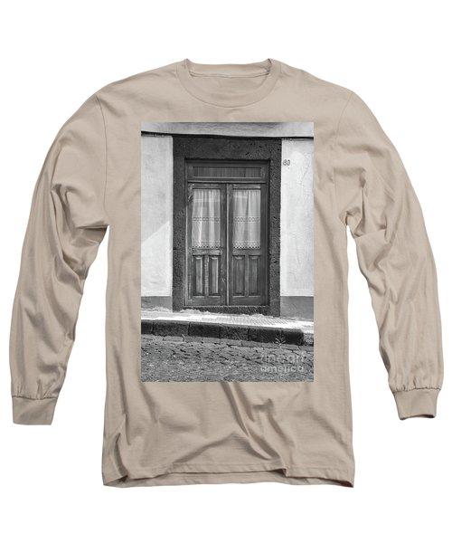 Old Wooden House Door Long Sleeve T-Shirt