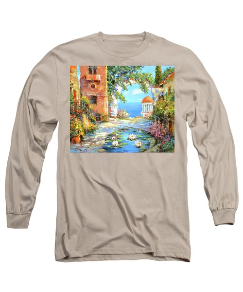 Old Yard  Long Sleeve T-Shirt by Dmitry Spiros
