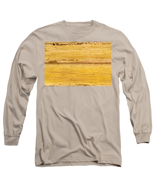 Long Sleeve T-Shirt featuring the photograph Old Yellow Paint On Wood by John Williams