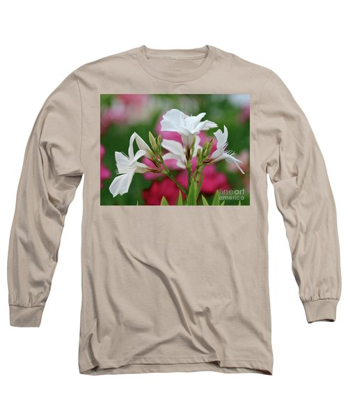 Long Sleeve T-Shirt featuring the photograph Oleander Casablanca 1 by Wilhelm Hufnagl