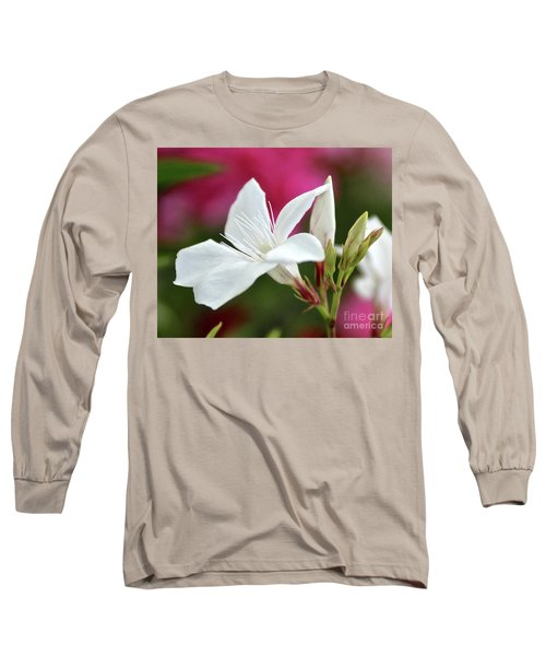 Long Sleeve T-Shirt featuring the photograph Oleander Casablanca 2 by Wilhelm Hufnagl