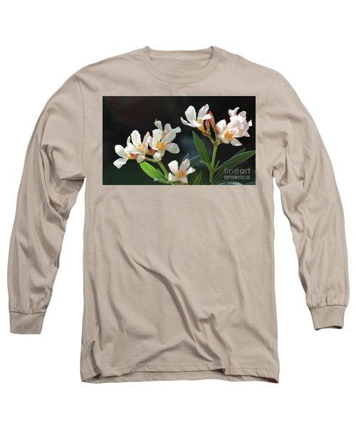 Oleander Petite Salmon 2 Long Sleeve T-Shirt by Wilhelm Hufnagl