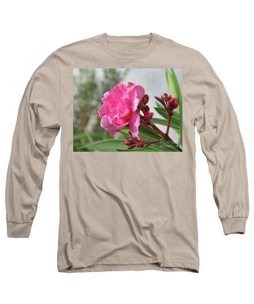 Long Sleeve T-Shirt featuring the photograph Oleander Splendens Giganteum 4 by Wilhelm Hufnagl