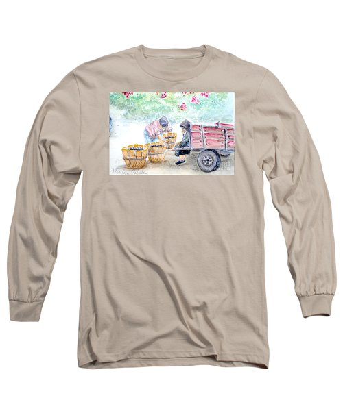 Olive Pickers Long Sleeve T-Shirt by Marilyn Zalatan