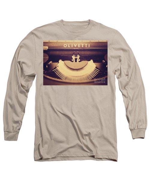 Olivetti Typewriter Long Sleeve T-Shirt