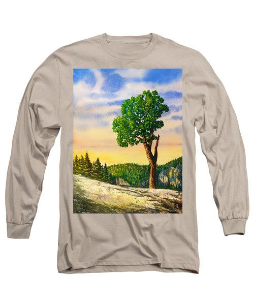Olmsted Point Tree Long Sleeve T-Shirt by Douglas Castleman