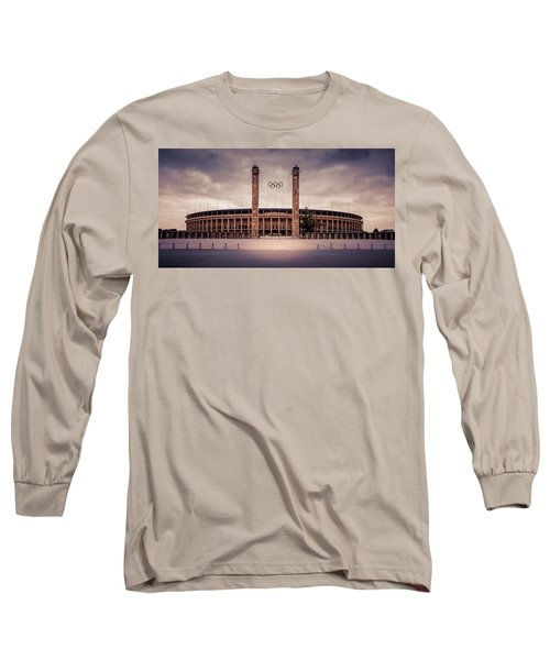 Olympic Stadium Berlin Long Sleeve T-Shirt by Stavros Argyropoulos