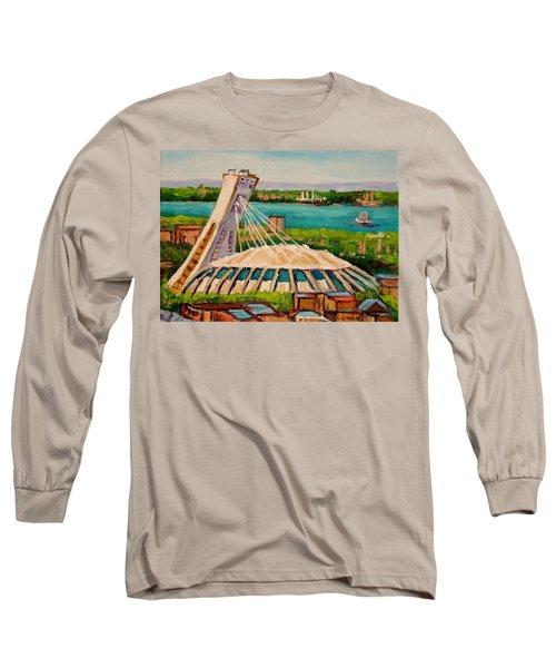 Olympic Stadium  Montreal Long Sleeve T-Shirt