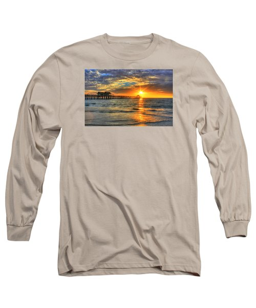 Long Sleeve T-Shirt featuring the digital art On Fire by Sharon Batdorf