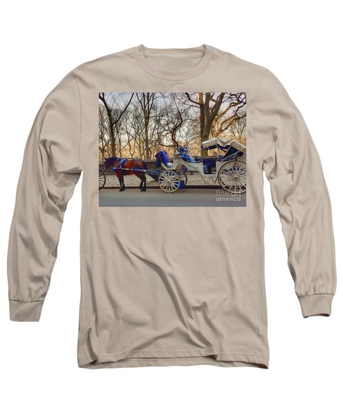 On My Bucket List Central Park Carriage Ride Long Sleeve T-Shirt