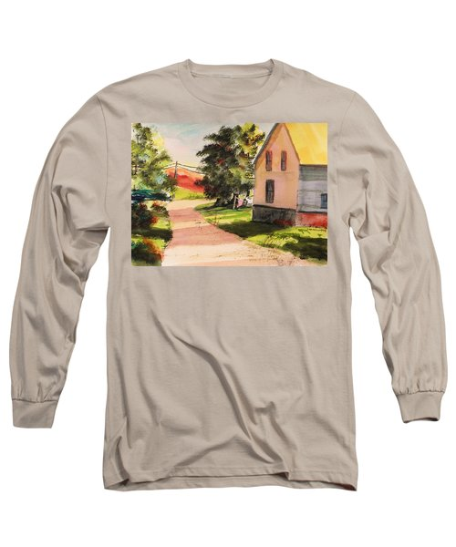 On The Line Long Sleeve T-Shirt by John Williams