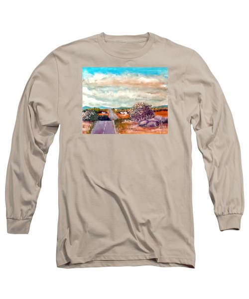 Long Sleeve T-Shirt featuring the painting On The Road Again by Jim Phillips