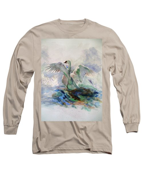 On The Water Long Sleeve T-Shirt by Khalid Saeed