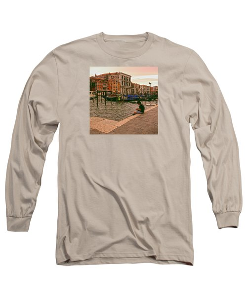 Long Sleeve T-Shirt featuring the photograph On The Waterfront by Anne Kotan