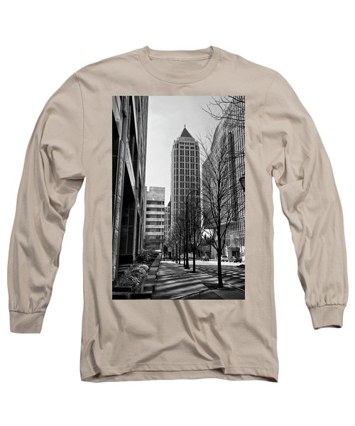 One Atlantic Center In Black And White Long Sleeve T-Shirt