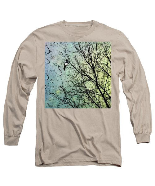 One For Sorrow #nurseryrhyme Long Sleeve T-Shirt by John Edwards