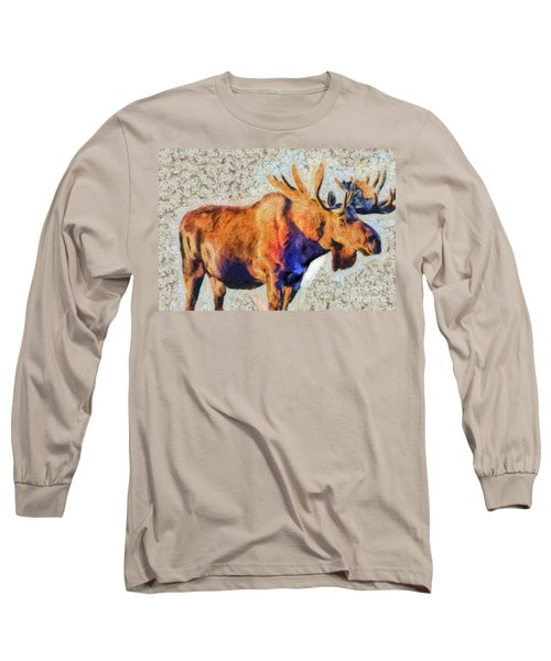 One Handsome Moose Long Sleeve T-Shirt