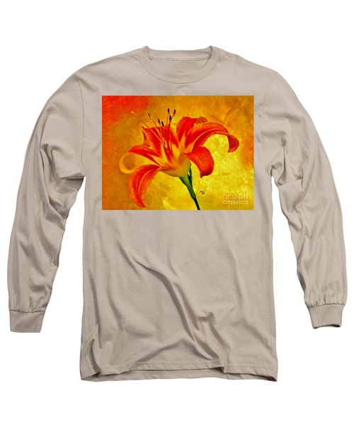 One Tigerlily Long Sleeve T-Shirt by Marsha Heiken