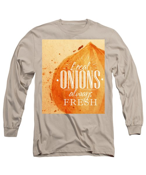 Onion Long Sleeve T-Shirt by Aloke Creative Store