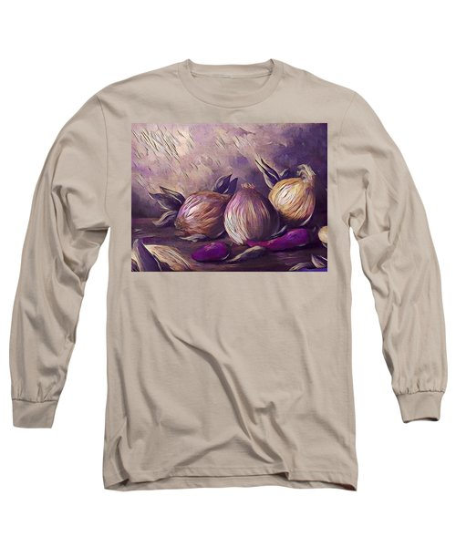 Onions And Peppers Digital Long Sleeve T-Shirt