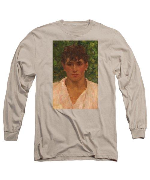 Open Collar Long Sleeve T-Shirt