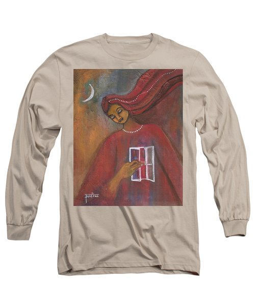 Long Sleeve T-Shirt featuring the painting Open The Windows To Your Soul by Prerna Poojara